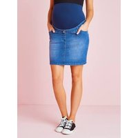 Maternity Denim Skirt blue dark solid