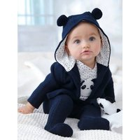3-Piece Outfit Gift for Newborn Babies blue dark solid