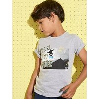 T-Shirt with Photo Print for Boys grey light mixed color