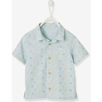 Short-Sleeved Printed Shirt for Baby Boys blue light all over printed