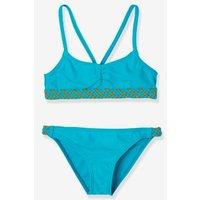 Bikini For Girls Blue Medium Solid With Design