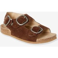 Anatomic Leather Sandals for Boys brown dark solid