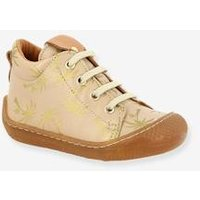 Lace-Up Leather Ankle Boots for Baby Girls, Andie by Babybotte® beige light all over printed