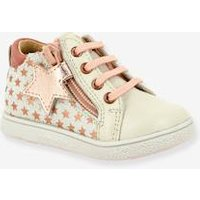Leather Trainers for Baby Girls, Adrenalina by Babybotte® pink light all over printed
