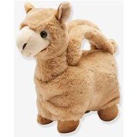 Plush Llama Handbag, for Girls beige dark solid