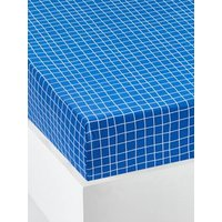 Childrens Fitted Sheet, COLORAMI Theme blue dark all over printed