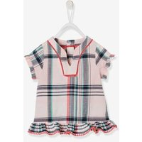 Checked Blouse for Baby Girls pink light checks