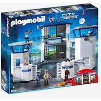 6919 Police Headquarters with Prison, by Playmobil blue light solid with design