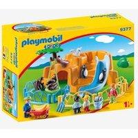 9377 1.2.3 Zoo, by Playmobil beige dark solid