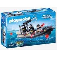 9362 SWAT Boat, by Playmobil black medium solid