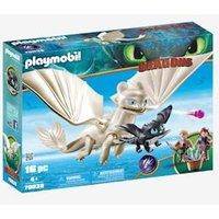70038 Light Fury with Baby Dragon & Children, Playmobil grey medium solid