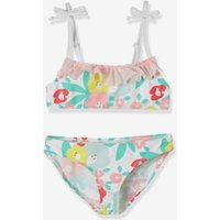 Bikini With Ruffles, For Girls White Light All Over Printed