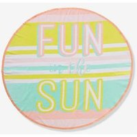 Round Beach Towel, Fun In the Sun pink light all over printed