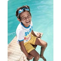 T-Shirt with Surfing Motif for Boys white light solid with design