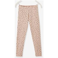 Leggings with Leopard Motif, for Girls beige light all over printed
