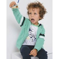Fun T-shirt with Playful Dinosaur for Boys white light solid with design