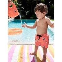 Image of Swim Shorts for Baby Boys orange bright all over printed