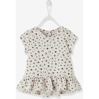 T-Shirt with Leopard Print, for Baby Girls beige light all over printed