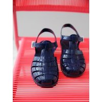 Baby Boys' Plastic Sandals for the Beach blue dark solid