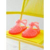 Baby Girls' Beach Sandals with Glitter pink bright solid