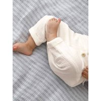 Harem-Style Trousers in Cotton Gauze for Baby Boys white medium solid
