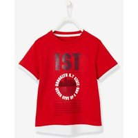 Sports T-Shirt with New York Marathon Motif, for Boys red dark solid with design