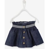 Denim Skirt, for Baby Girls blue dark solid