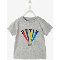 Baby Jungen T-Shirt mit Print grau Gr. 62 von vertbaudet