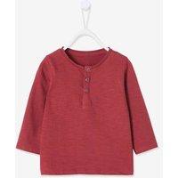 Henley-Shirt für Baby Jungen rosa Gr. 62 von vertbaudet
