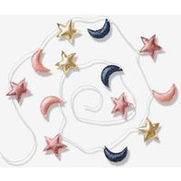 Kinderzimmer Girlande, Mond & Sterne rosa von vertbaudet