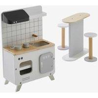 Küchenmöbel für Modepuppen aus Holz weiß von vertbaudet
