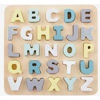 Buchstaben-Puzzle aus Holz für Kinder von vertbaudet
