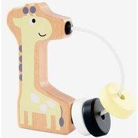 Baby Holzrassel, Giraffe gelb/natur von vertbaudet