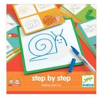 Step by step-Malset ,,Animals