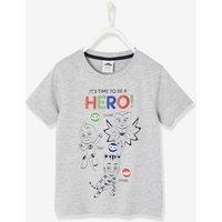 Jungen T-Shirt PJ Masks®, Klett-Patches grau Gr. 92
