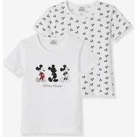 2er-Pack Kurzarm Jungen Unterhemden, Mickey® weiß Gr. 110