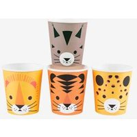 Kinderparty 8er-Set Pappbecher MY LITTLE DAY mini raubkatzen