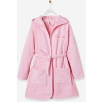 Albornoz infantil personalizable con capucha rosa