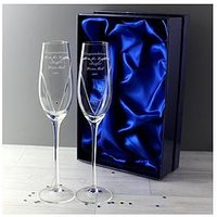 Personalised Heart Flutes With Swarovski Crystal Elements, Women