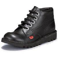 Kickers Junior Kick Stylee Hi Shoes, Black, Size 12