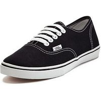 Vans Authentic Lo Pro Plimsolls, Black / White, Size 3, Women