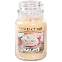 Product photograph showing Yankee Candle Large Jar - Vanilla Cupcake