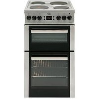 Beko Bdv555As 50Cm Double Oven Electric Cooker - Silver