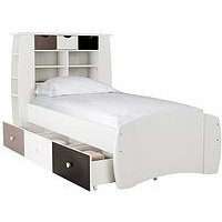 Ladybird Orlando Fresh Bed  - Bed with drawers and Standard mattress, White/Pink/Lime