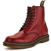 Dr Martens 8 Eyelet Mens Boots - Cherry, Cherry, Size 7, Men