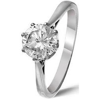 Love DIAMOND Platinum Certified Diamond 1 Carat Solitaire Ring, Size Q, Women