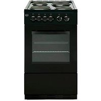 Swan Sx1011B 50Cm Single Oven Electric Cooker - Black