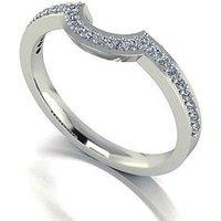 Moissanite 9 Carat White Gold 25 Point Wedding Band, Size H, Women
