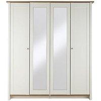 Consort Tivoli 4-Door Mirrored Wardrobe (5 Day Express Delivery)