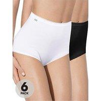Playtex Cherish Maxi Briefs (6 Pack), White/Black, Size 4Xl, Women